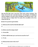 Reading Comprehension Deer and Crocodiles