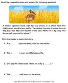 Reading Comprehension Sparrow