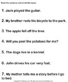 Recognize the Nouns
