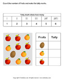 Record Data with Tally Charts - graphs - First Grade