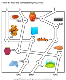 Rhyming Words Maze am ar and ag