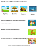 Label the Seasons - weather-and-seasons - Kindergarten