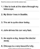 Select the Common Nouns