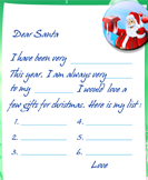 Write a Letter to Santa - christmas - Second Grade