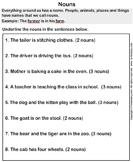 Identify Nouns - noun - First Grade