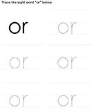 Sight Word Or Tracing Sheet