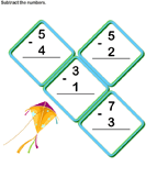 Subtract 1-digit Numbers - subtraction - Kindergarten