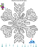 Winter Maze - winter - Second Grade
