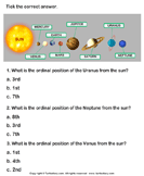 Solar System: Choose the Correct Option - solar-system - Second Grade