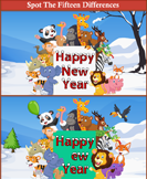 Spot the Differences Animals New Year