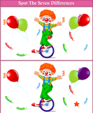 Spot the Differences Clown in Cycle