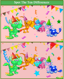 Spot the Differences Dinosaur Party