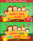 New Year Spot the Difference - new-year - Second Grade