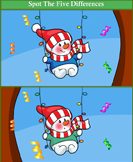 Spot the Differences Snowman in Swing