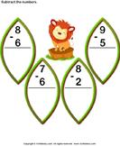Subtract 1-digit Numbers - subtraction - Kindergarten