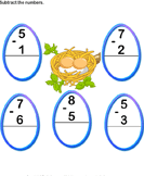 Subtraction with Numbers up to Ten