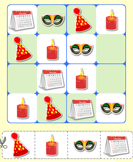 New Year Puzzles - new-year - Second Grade