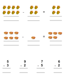 Thanksgiving Subtraction - thanksgiving - First Grade