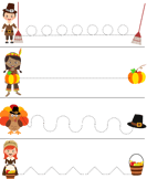 Thanksgiving Tracing - thanksgiving - Preschool
