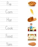 Thanksgiving Vocabulary - thanksgiving - Kindergarten
