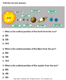 Solar System: Choose the Correct Option - solar-system - First Grade