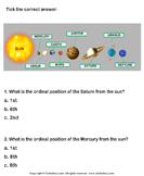 Solar System: Choose the Correct Option - solar-system - Second Grade