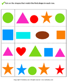 Match the Shape - geometry - Kindergarten