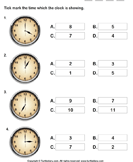 Time on Analog Clocks to Nearest Hour