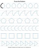 Trace the Pattern - geometry - Preschool