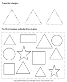 Trace Triangles and Color Them