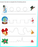 Christmas Tracing Pages - christmas - Preschool