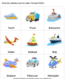 Water Transport - transportation - Kindergarten