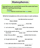 Use Homophones Given in Bracket to Complete the Sentence