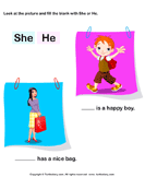 Use of She and He