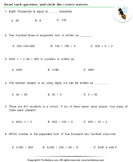 Number Forms : Multiple Choice Questions - place-value - Third Grade