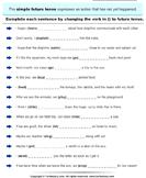 Write Verb in each Sentence in Future Tense Form